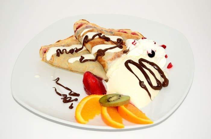 Сладкие блины на десерт