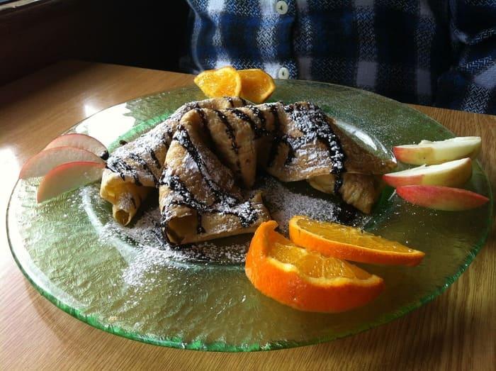 Блинчики с шоколадом и апельсином